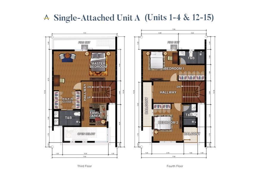 Brizlane Residences - Unit A Floorplan 3-4