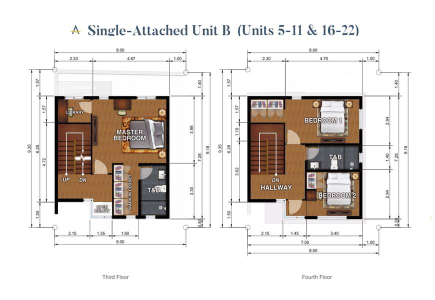 Brizlane Residences - Unit B Floorplan 3-4