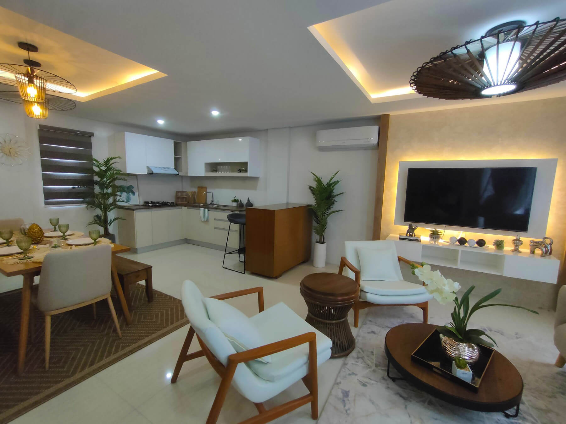 Brizlane Residences - Living Kitchen and Dining