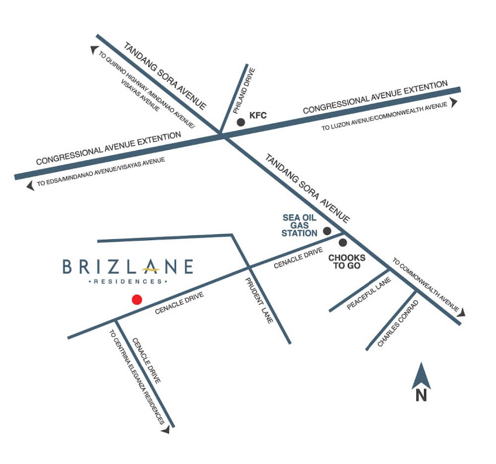 Brizlane Residences Map